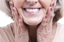 An older woman's smile